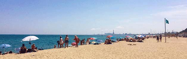 playas cerca de Barcelona Montgat