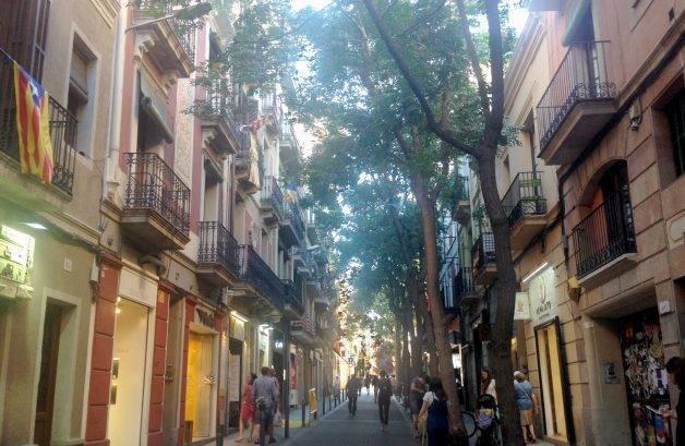 barrio de gràcia, calle Verdi