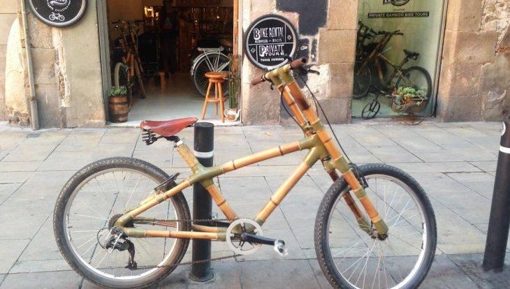 street art tour en bicicleta, bici de bambú