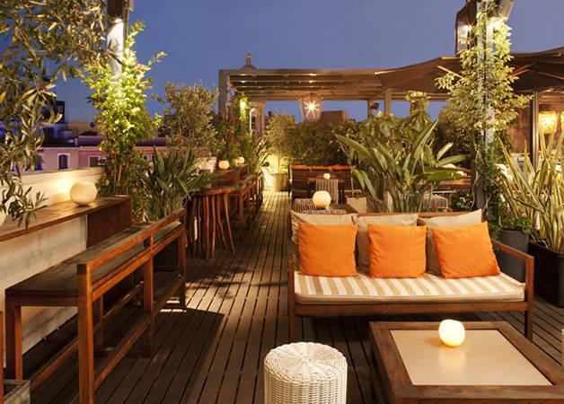 hoteles en Barcelona: terraza del Pulitzer