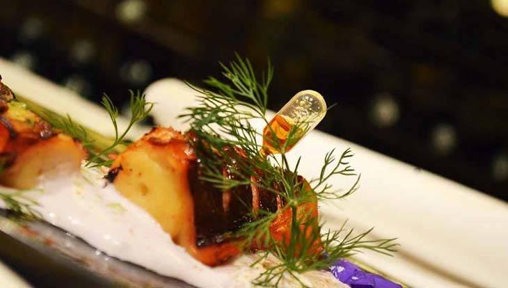 restaurante romántico Arcano: pulpo