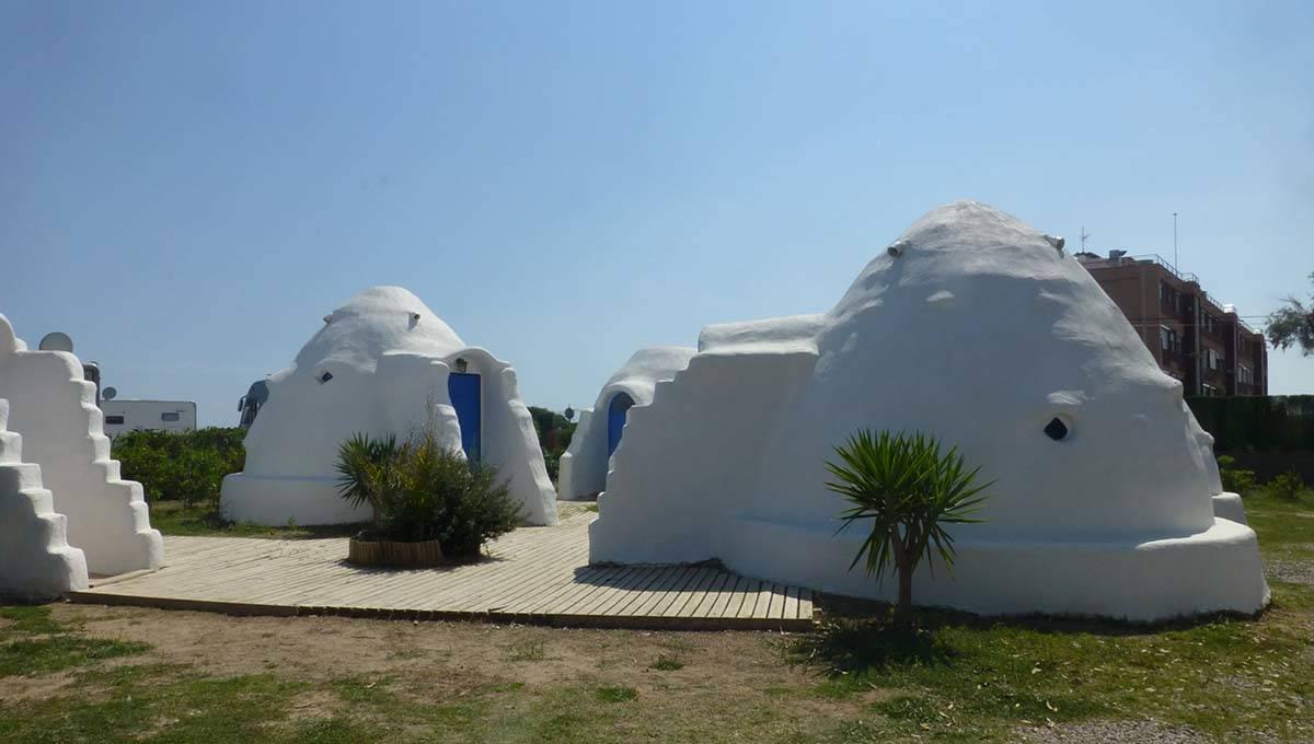camping Barcelone 3 estrellas: les dômes écologiques