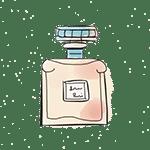 dessin d'un flacon de parfum