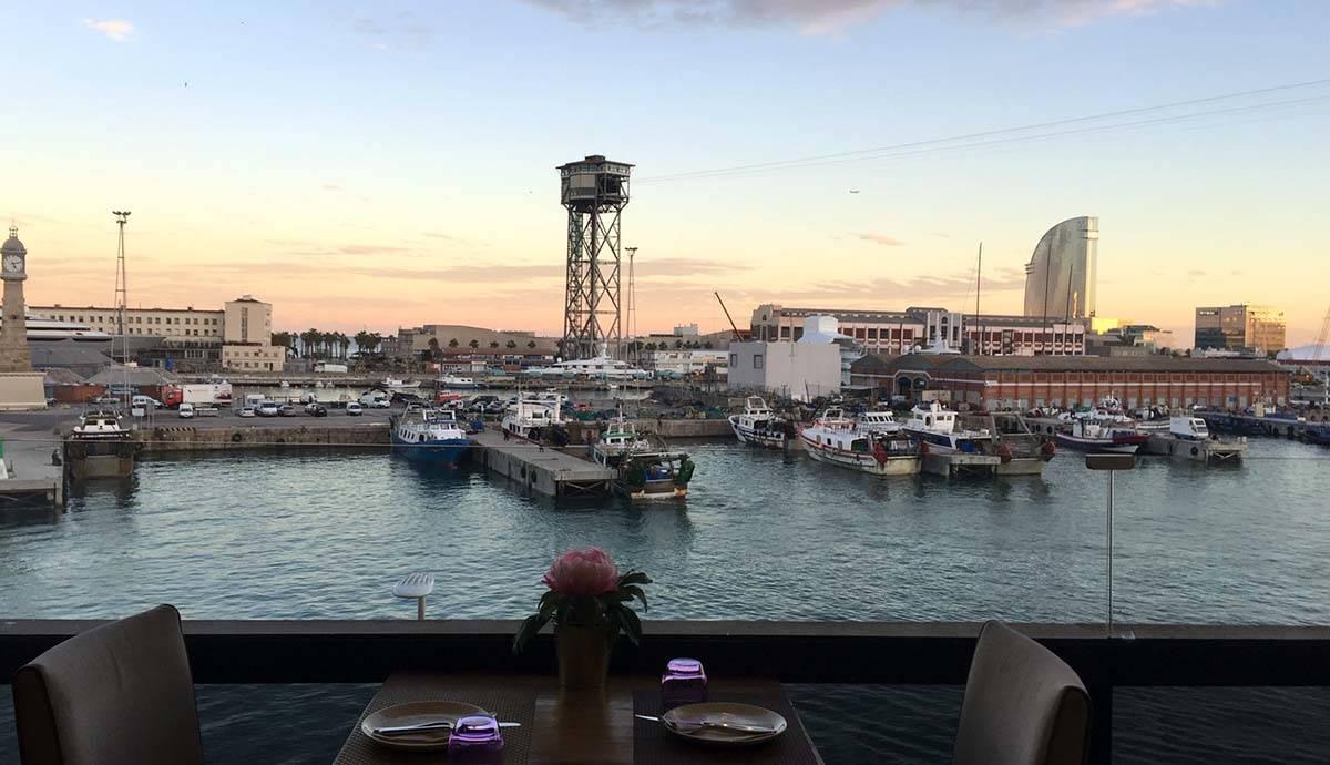 vista desde el bar marítimo de Maremagnum