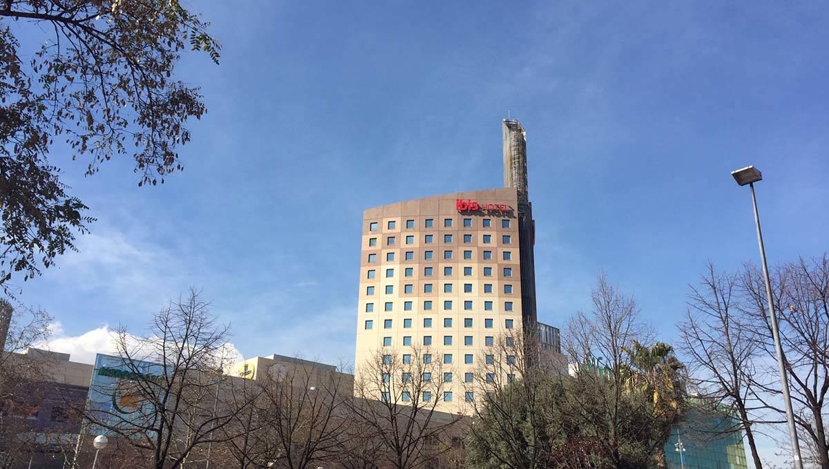 Hotel Ibis Meridiana vista desde el exterior