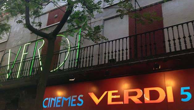cines de barcelona, exterior cine verdi